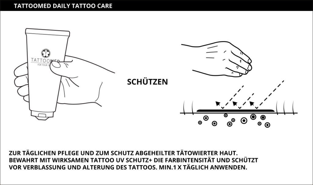 daily tattoo care Pflegeanleitung